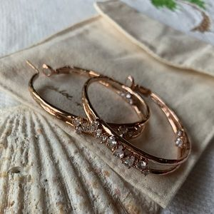Chloe + Isabel Anniversary Rose Gold Hoop Earrings